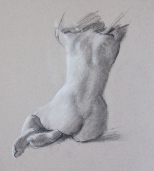 Open Studio sketch by Tucson artist George Strasburger.