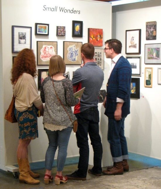 The 2015 Small Wonders Art Sale featured more than 200 pieces of small art for sale.