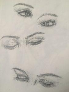 portrait, sketch, Gaby